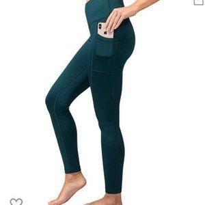 NWOT, 90 Degree Side Pockets Leggings Teal, XS